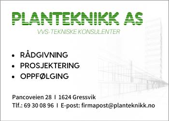 Planteknikk er et rådgivende ingeniørfirma innen fagområdet VVS.