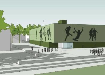 Ny fotballhall i Drammen