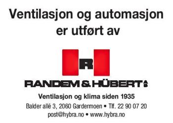Randem & Hübert| ledende og solid aktør i ventilasjonsbransjen