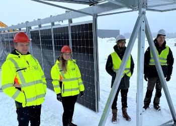 Etablerer Norges største bakkemonterte solcellepark