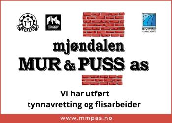 Mjøndalen Mur og Puss AS murmesterforretning