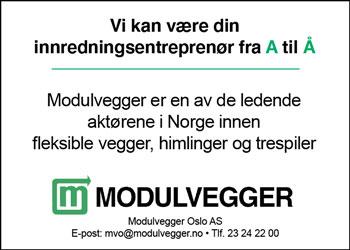 Modulvegger ledende aktør innenfor systeminnredninger i Norge